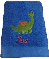 Personalised, Boys Dinosaur, Bath, Beach, Swimming Towel