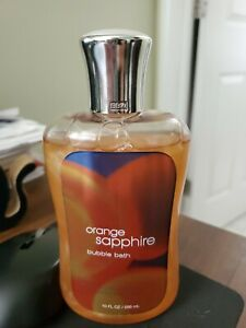 NEW!~BATH & BODY WORKS Bubble bath~10 fl oz Orange Sapphire