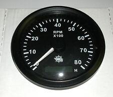 Drehzahlmesser 85 mm  Diesel/ Benzin 0-8000 RMP Schwarz Blende Schwarz 27.325.04