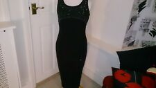 LOVELY EVENING DRESS,BEAD DETAIL,WITH THIGH HIGH SPLIT SIZE 12