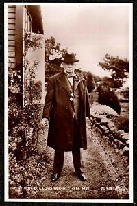 1930 LLOYD GEORGE WALES REAL PHOTO POSTCARD POLITICAL M.P