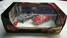 HOT WHEELS 100% CORVETTE 50TH ANNIVERSARY LIMITED EDITION SET OF 2 CARS