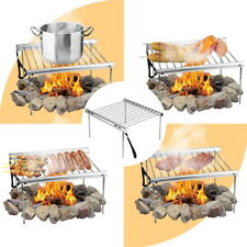 Portable Mini BBQ Grill Foldable Cart, Camping Outdoor Party Tool for Home Park