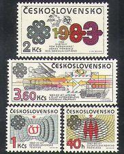 Czechoslovakia 1983 Communications/ITU/UPU/Plane/Van/Transport/TV 4v set n38267