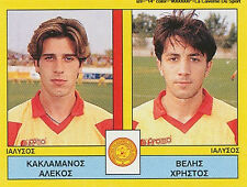 N°411 PLAYERS IALYSSOS RODOS GREECE PANINI GREEK LEAGUE FOOT 95 STICKER 1995