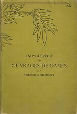 BIBLIOTHEQUE DMC_ Th. DE DILLMONT: ENCYCLOPEDIE DES OUVRAGES DE DAMES _17 tavole