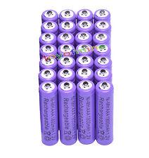 28x AAA 1800mAh 1.2V Ni-MH 3A color púrpura 3A recargable Batería