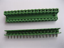 70 pcs 5.08mm Angle 16pin Screw Terminal Block Connector Pluggable Type Green