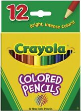 Crayola 4112 Colored Pencils 12 Pack PreSharpened Non-Toxic Color Art NEW!