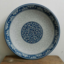 Chinese / Japanese Celadon style plate