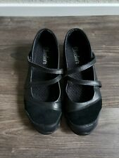 Skechers Women's Biker Step Up Mary Jane Flats Shoes Size 6 Black Leather