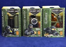 New  COMPASS WATCH Tactical Glasses BINOCULARS - SpyNet COVERT OPS Spy Gear Lot