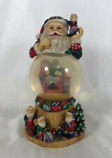 Vintage Santa Reading A Christmas Story To His Elves Christmas Snow Globe