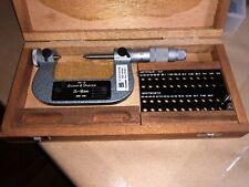 Brown Amp Sharpe Pitch Thread Micrometer 599 210 12 25 50mm