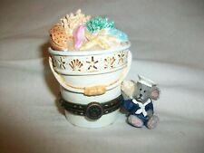 2011 Boyds Bethany's Beach Pail Shelly McNibble Bucket Shell Ocean Starfish