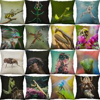 "18"" Insect Print Cotton Linen pillow case cover cushion cover Home Decor"