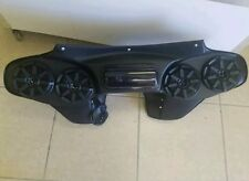 """Harley Davidson Softail Heritage Deluxe Batwing Fairing 5 1/4"""" Stereo setup"""