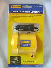 NEW MINI MAGNETIC CAR SPOTLIGHT EMERGENCY LIGHT CIGARETTE ADAPTOR 12V MARKSMAN