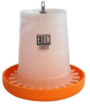 Poultry Feeder for Quails, Chicks, Ducks, Partridges, Avain 3kg by Eton Orange