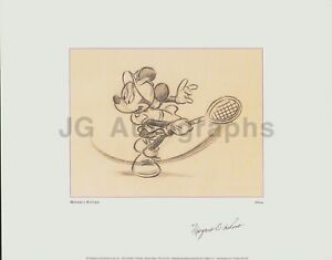 Margaret Osborne duPont - Female Tennis Great - Signed Minnie Mouse Print