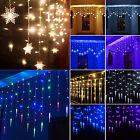 3.5M LED Lichterkette Lichtervorhang Weihnachtsbeleuchtung Party Licht Dekodraht