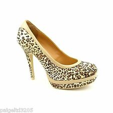 Baby Phat Chance Leopard Women's Closed Round Toe Platform Pump Shoes 7M