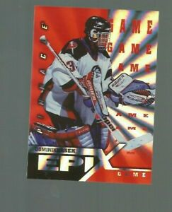 97/98 PINNACLE DOMINIK HASEK #E22 ORANGE EPIX GAME NRMT