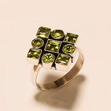 5.50Gm Natural Peridot Ring Gemstone 925 Solid Sterling Silver Ring Us 8.8 i1127