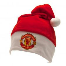 Manchester United Fc Man Utd Supersoft Christmas Novelty Elf Santa Hat