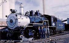 Great Western 2-8-0 steam locomotive #75 railroad train postcard