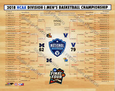 2018 Villanova Wildcats Michigan National Championship Bracket 8x10 Photo
