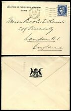 FRANCE SOUTH AFRICA DIPLOMATIC ENVELOPE 1938