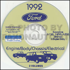 1992 Ford Van Shop Manual on CD Econoline E150 E250 E350 Club Wagon Service