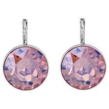 Swarovski Bella Pierced Light Rose Moonlight Crystal Earrings