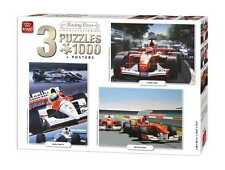 3 in 1 Triple Pack 1000 PEZZI RACING Carte Collezione Puzzle 05213