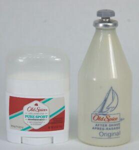 NEW Vintage Original OLD SPICE Star-Top AFTER SHAVE 2.5oz + OLD SPICE Deodorant