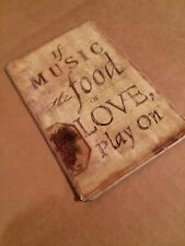 """Quote Magnet Music Vintage Style Refrigerator Magnet Inspirational 3.75"""" NEW"""