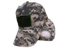USA US U.S. America American Flag Green Patch Light Marpat Baseball Cap Hat