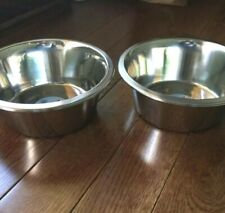 2Pk Dog Bowls Stainless Steel, Large, Greenbrier Kennel Club, Water Dish Pet Cat