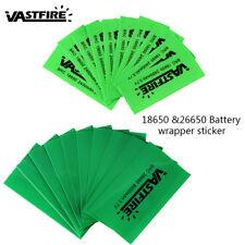 VastFire 10 STÜCKE 18650 26650 Batterie Wrap Schrumpffolie PVC Gehäuse Haut Set