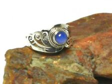 Round  MOONSTONE   Sterling  Silver   925  Gemstone   RING  -  Size: R