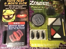 Halloween Makeup 1 Zombie Kit.           1 Teeth Paint Mouth Glow F113