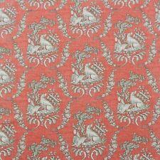 Brunschwig & Fils Chasse Toile Brique Rouge Chiens Oiseau Tissu Designer 0.9m 54