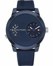 Tommy Hilfiger Original 1791556 Men's Blue Silicone Band Watch 44mm