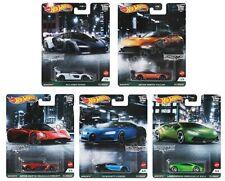 Hot Wheels Premium 2021 Car Culture Exotic Envy Case D - 5 Car Set [Presale]