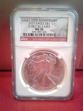1-2011 NGC 25th Ann Label PerfectMS70 Slv American Eagle NGC Collectors Society