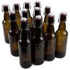 12-Pack 33 oz. Grolsch Glass Beer Bottles - Homebrew Alcohol Tea & Soda
