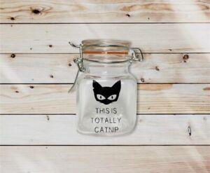 This Is Totally Catnip Jar, Storage Jar, Herb Jar, Stash Jar