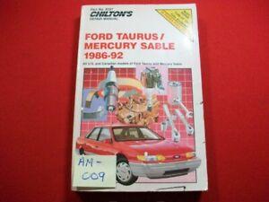 1986-92 FORD TAURUS & MERCURY SABLE MODELS-REPAIR, MAINTENANCE & TUNE-UP MANUAL