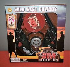 Ankyo Wild West Heroes 8 pc Plastic cowboy play set NEW perfect for dress up